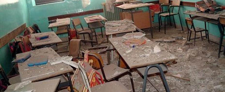 Scuola, una sicurezza da paura: un crollo ogni 4 giorni
