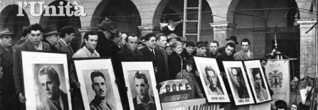 In memoria dei sei operai uccisi dalla polizia alle Fonderie Riunite di Modena