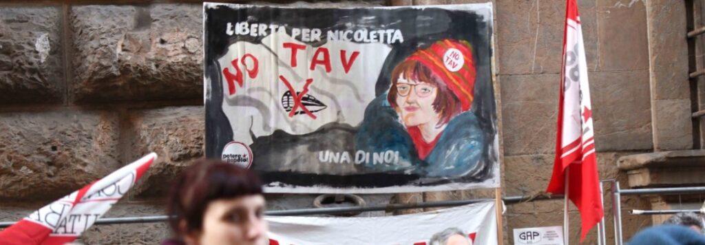 """La protesta della Val Susa: """"Libertà per Nicoletta Dosio"""""""