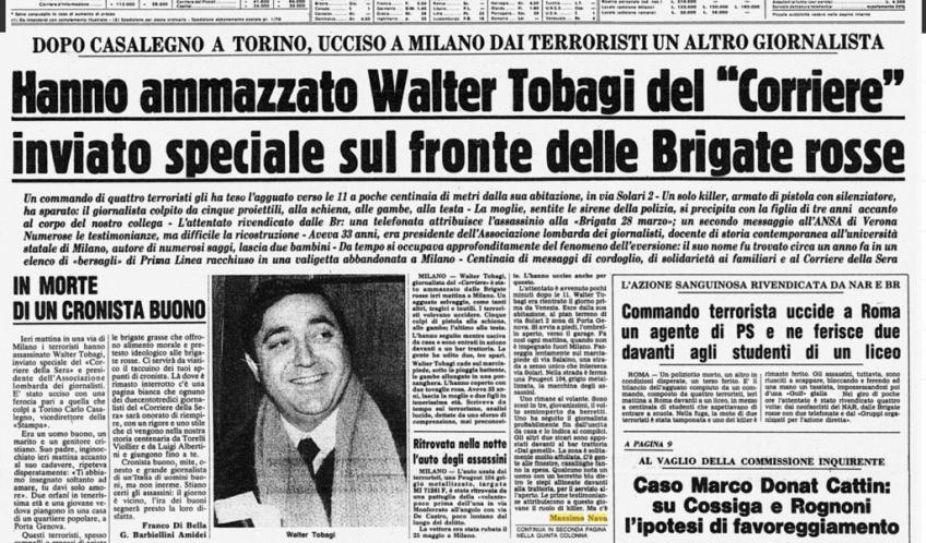 Omicidio Tobagi: fare il punto sulla verità storica