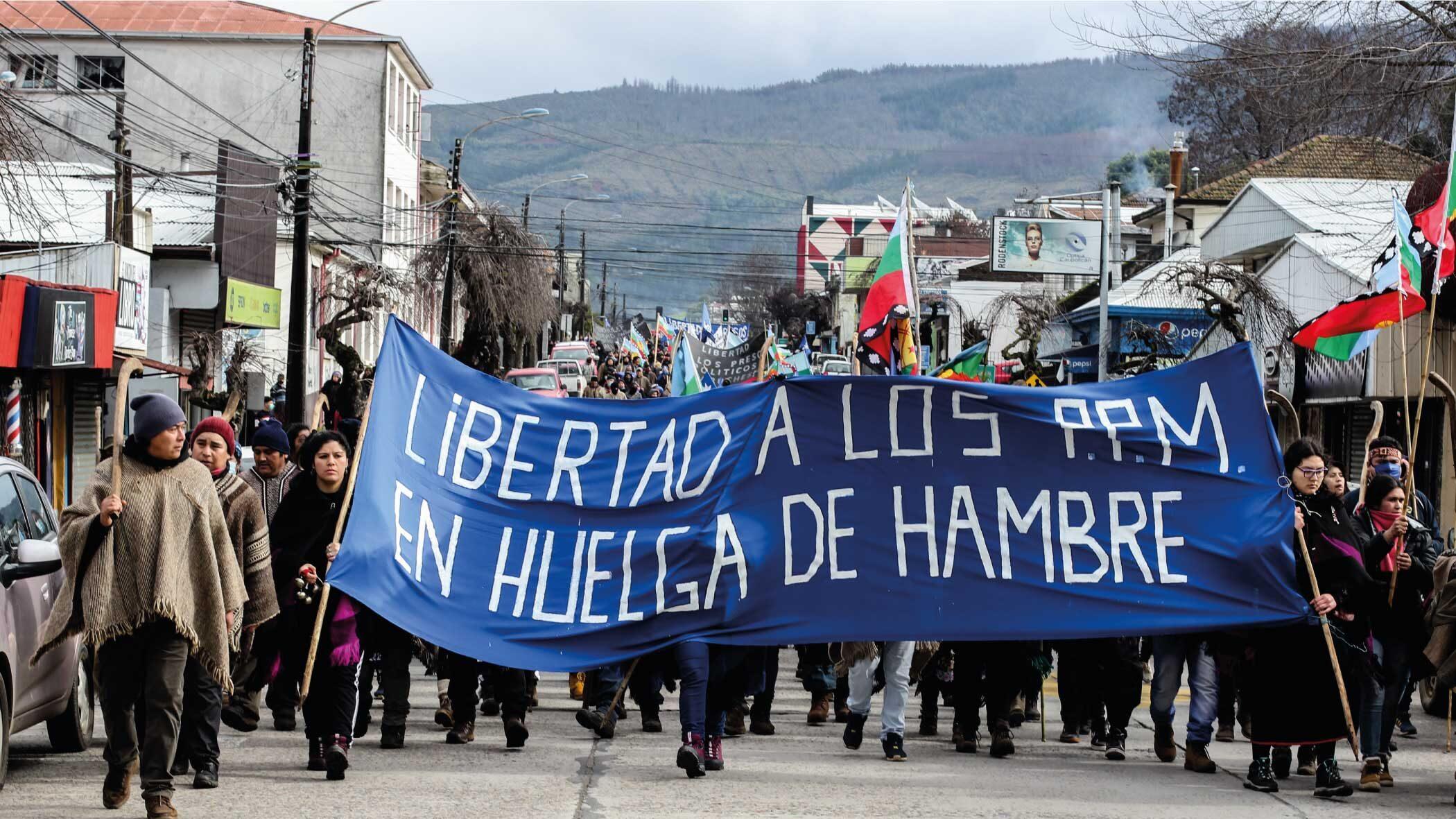 Prigionieri politici mapuche in sciopero della fame e della sete al punto critico