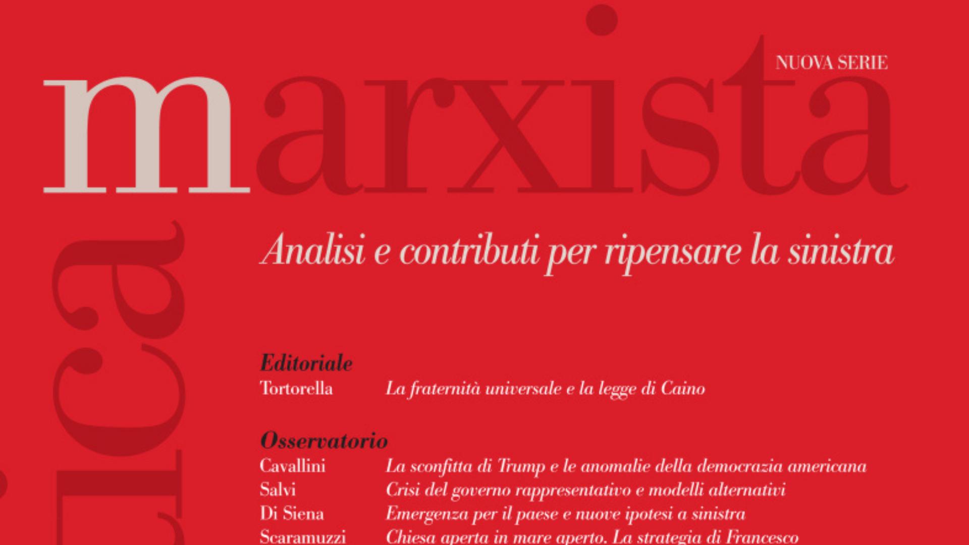 Critica marxista, campagna abbonamenti 2021