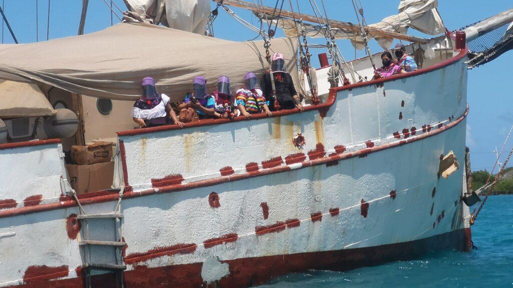 Il veliero zapatista avvista Vigo e la festa europea
